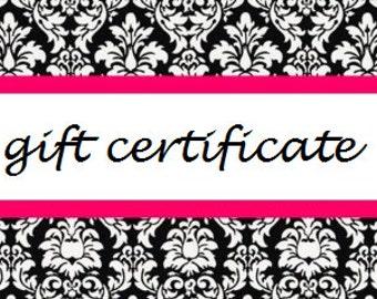 60 Dollar Gift Certificate