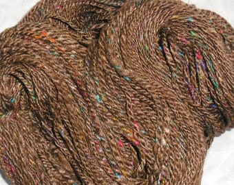 No. 29 - Fireworks: Merino, SIlk, and Sari Silk Handspun Yarn