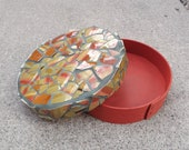 Round Mosaic Keepsake Box