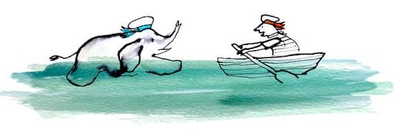 """Mr. Edwards and Mr. Jack, 8"""" x 10"""" print / nautical illustration"""