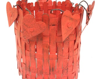 Rustic Home Decor Recycled Metal Candle Sheath