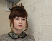 Petah Pan Collar Necklace in vintage V&A Liberty Palm Tree Print Fabric - Limited Edition