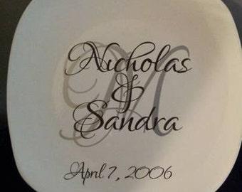 Established Wedding Plate