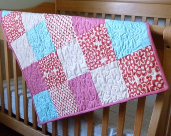 Cherry Picnic Baby Quilt