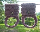 Crochet Towel Holder, Kitchen Towel Holder, Bath Towel Holder