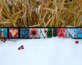 WORDS Inspired by Nature:  I LOVE MONTANA in red, yellow, green and blue (inspirational art, handmade gift, home decor, photography)