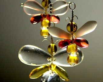 Butterfly Mobile Crystal Suncatcher Butterfly Ornament Butterfly Hanging Mobile Wedding Decor Yellow Red Australia Glass Mobile Window Charm