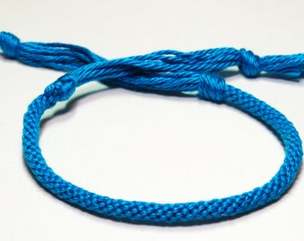 Kumihimo Solid Color Bracelet Cotton Fiber. Pick Your Own Colour Custom Jewelry
