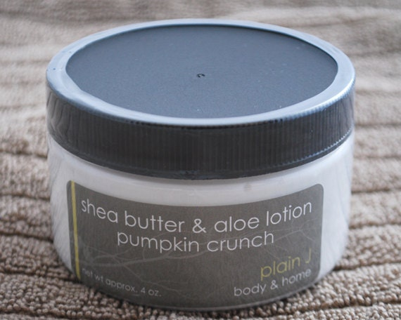 CLEARANCE Pumpkin Crunch Shea Butter & Aloe Body Lotion - delicious spicy pumpkin scent body lotion