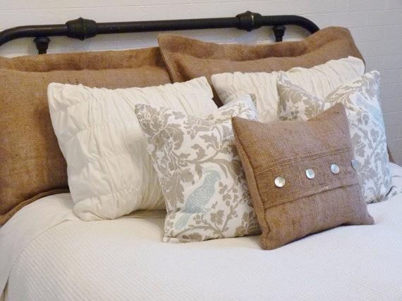 Burlap Pillow Sham Standard Size
