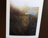 Cowboy hat - photo greeting card - Fathers Day- get well - birthday - sympathy
