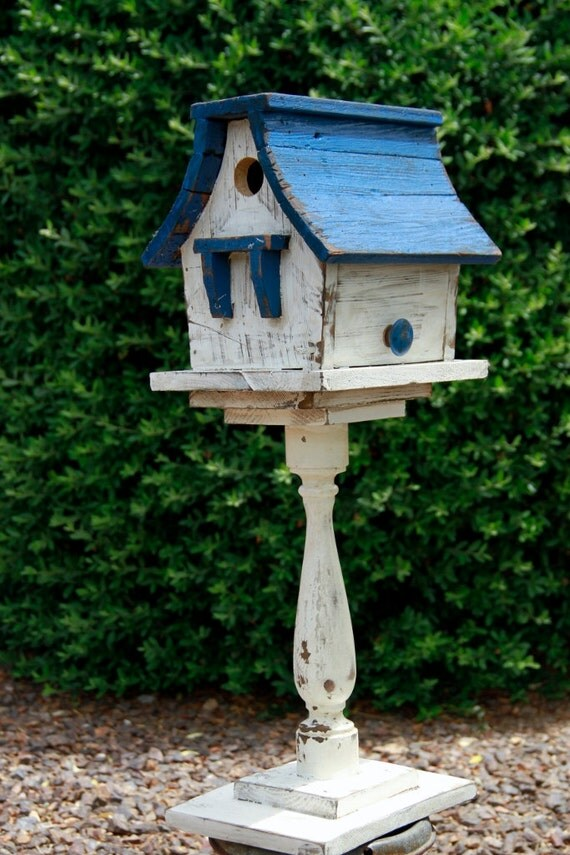 victorian bird house, antique style bird house, shabby chic style bird house,functional bird house, spindle, baluster, architectural salvage