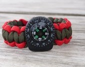 Boy Scout Paracord Survival Bracelet with Liquid Compass