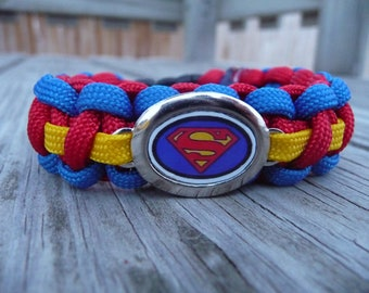 Superman Paracord Survival Bracelet