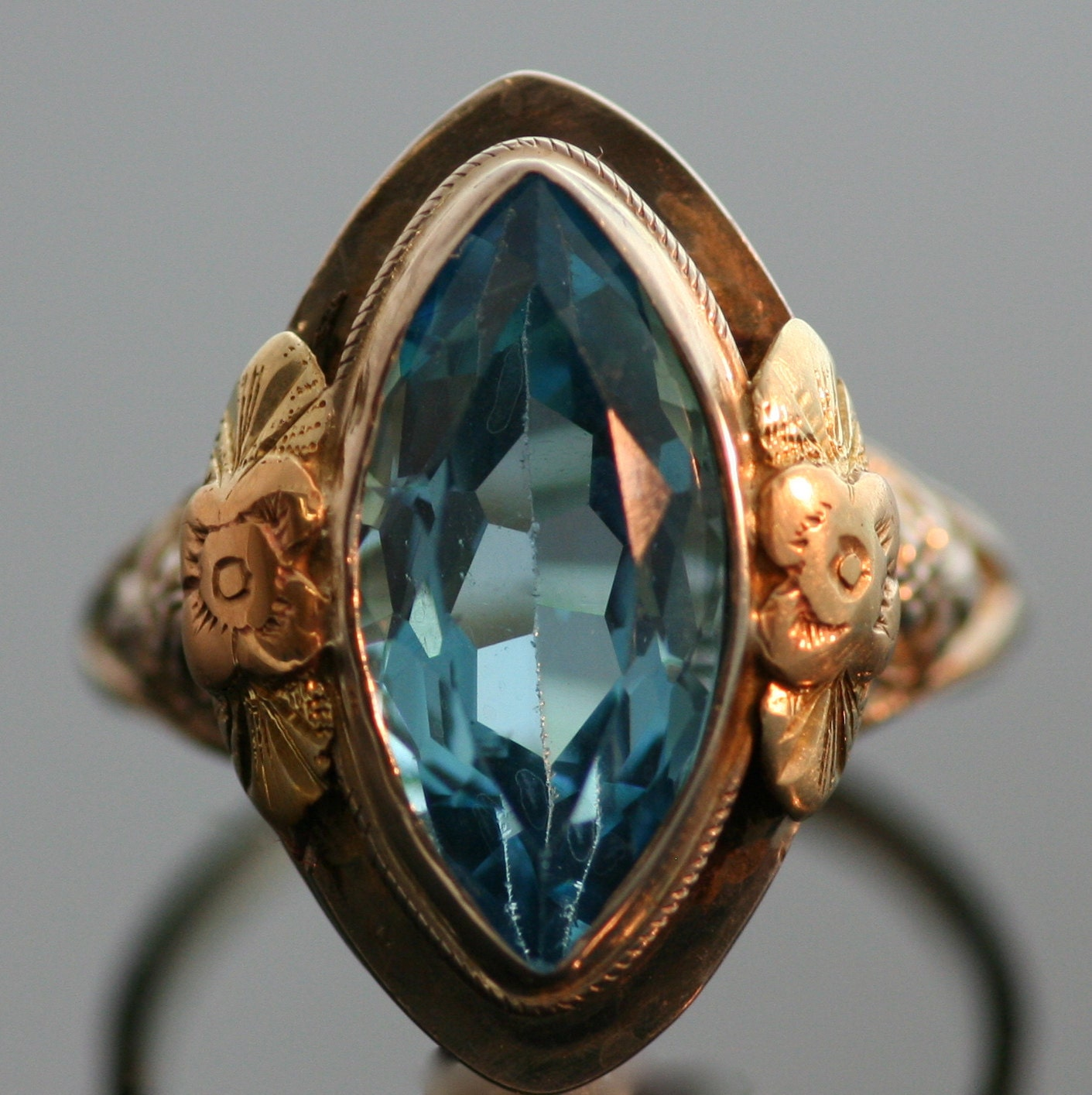 reserved for antique ring antique blue topaz ring