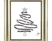 Christmas Tree - Personalized Custom Holiday Greeting Print