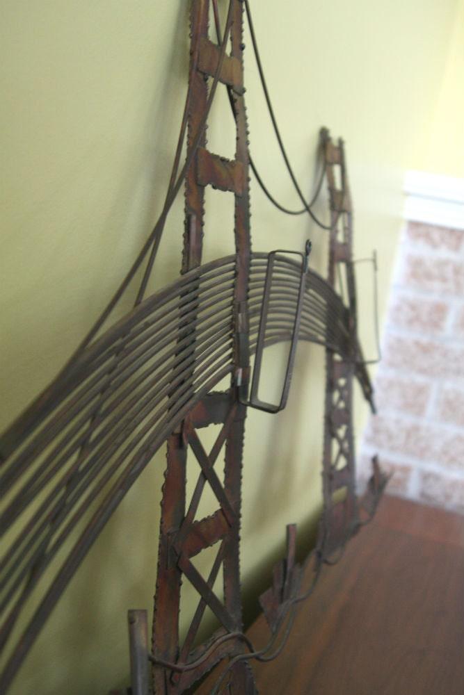 vintage metal wall art golden gate bridge by. Black Bedroom Furniture Sets. Home Design Ideas