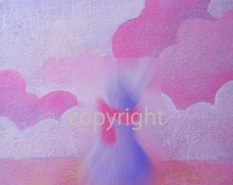 Spring----original acrylic giclee art  print