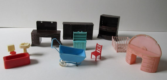 Dollhouse Furniture Vintage 50s Plastic Instant Collection Of