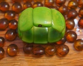 Green Tagua NUT Bracelet handmade from Natural Seed