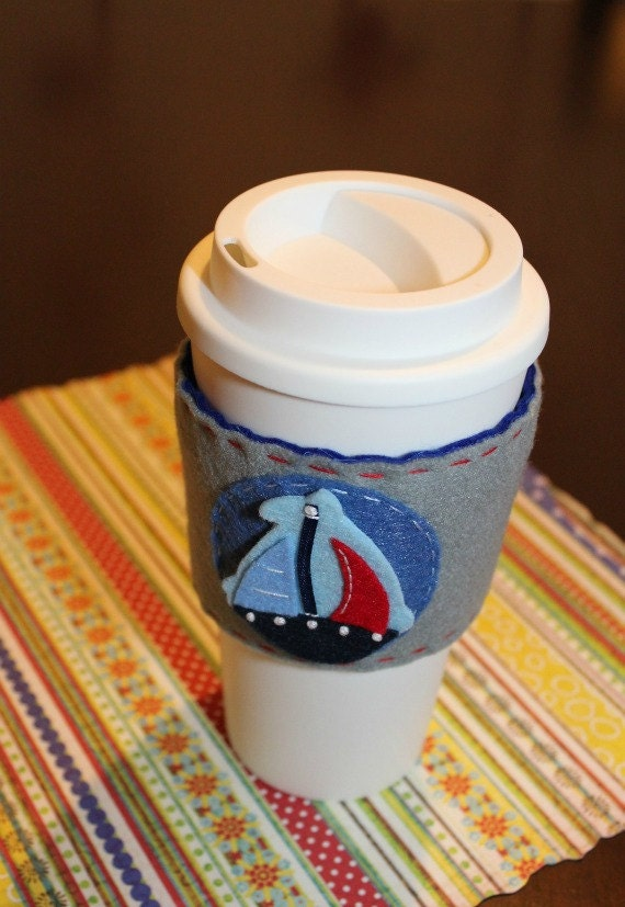 Nautical Coffee Cozy