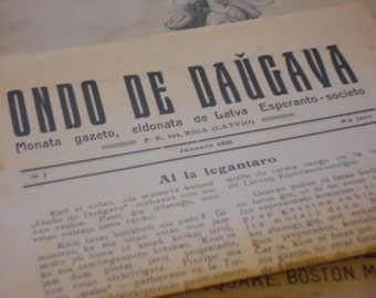 1933 Antique Latvian Newspaper