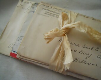 Vintage Bundle of 10 Lovely Handwritten Correspondence Letters