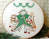 Ghost of Christmas Present - Embroidery Pattern PDF - Includes Color and Stitch Guide - Dickens - A Christmas Carol