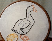 The Goose that Laid the Golden Egg - PDF Embroidery Pattern - Aesop's Fables - Includes Color and Stitch Guide