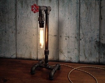 Edison Table Lamp - Industrial Lighting - Steampunk Decor - Man Cave