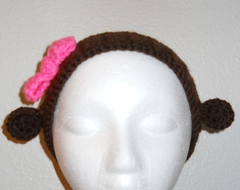 Girl Monkey Ear Warmer/Headband
