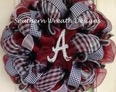Alabama College Sports Mesh Deco Wreath