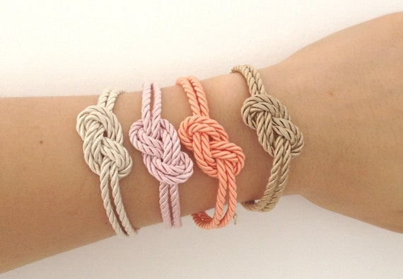 Arm candy - Small silk Knot Bracelet - 24k gold plated