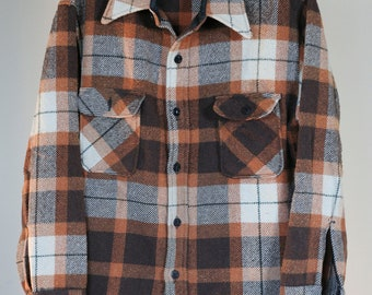 vintage shirt jacket wool blend montgomery wards