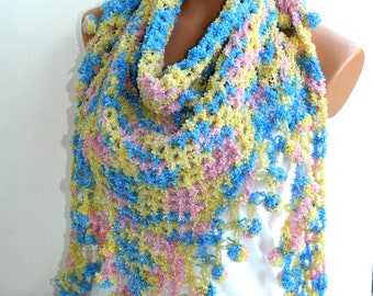 shawl,rainbow,colorful women shawl,soft,warm,accessories,spring trends,for her,fall fashion,winter trends,gift ideas,best