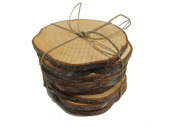 Rustic wedding decorations wood slices wood rounds tree for Wood trunk slices