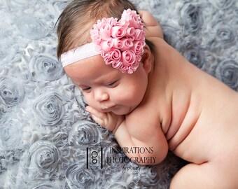 Valentines Day Headband, Newborn Headband, newborn photo prop, baby photo prop, baby headband, valentines baby, Valentine's Day, baby prop