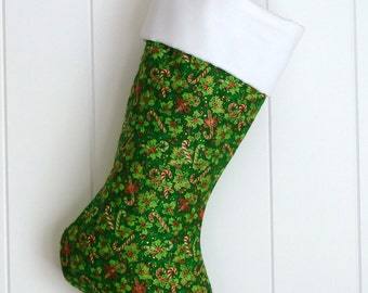 Christmas Stocking / Holly & Candy Canes / Item 34