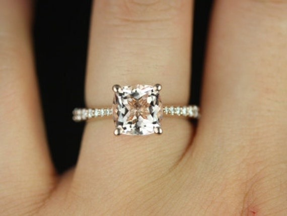 14kt Rose Gold Diamond Cathedral Engagement Ring NOT including center stone (Reserved for  Anna Rasmussen
