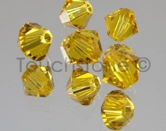 4mm Sunflower Swarovski Crystal Bicone Beads 72 Beads #45-1219