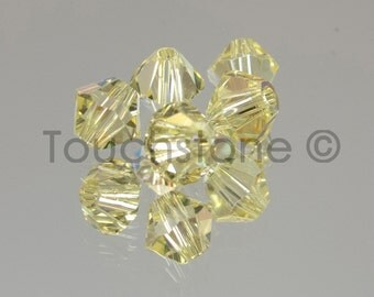 4mm Jonquil AB Swarovski Crystal Bicone Beads 72 Beads #45-1142