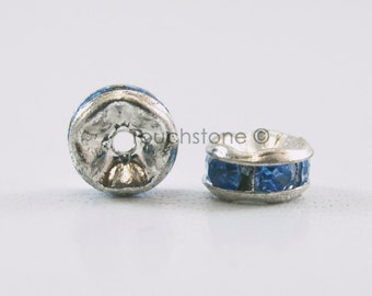5mm Light Sapphire Crystal Rondelle Spacer Beads #-