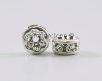 4mm Crystal Rondelle Spacer Beads