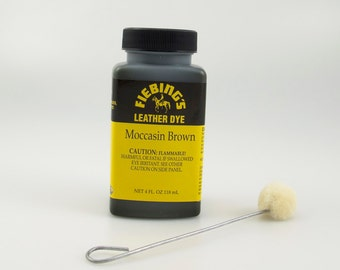 Moccasin Brown Fiebings Leather Dye 4oz#34-210030