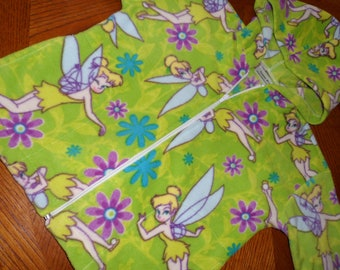 Girls Tinkerbell Fleece Hoodie only one size 6 ready to ship