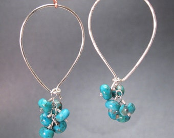 Oval Hoop with Turquoise Clusters Carnivale 20