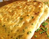 Naan Bread a Cilantro Garlic Buttery Flat Bread with Indian Spices