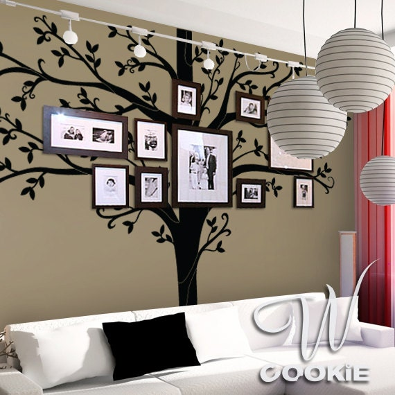 Wall Decal 108 Tall Family Tree Nursery Wall Decal By Wcookie
