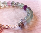 Fluorite Bracelet, adjustable