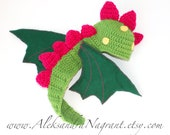 DRAGON/ DINOSAUR Baby Costume - acrylic - felted fabric - photo prop - more colors - Made To Order